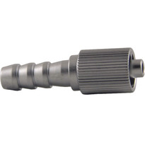 Rotating MLL(Fluted) to 6mm Hose End (Plated Brass (Individual)