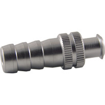 FLL to 8mm Hose End (Plated Brass) (Individual)