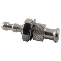 """MM FLL to Bulkhead 1/8-3/16"""" Hose (Stainless Steel) (Individual)"""