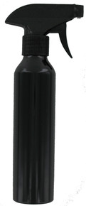 Soft 'n Style Black Aluminum Spray Bottle, 10oz