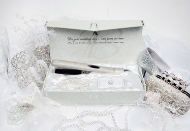 """Aria Beauty Professional Infrared Styler  and Luxurios Crystal Hairpiece. The """"I Do"""" Gift Collection"""