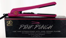"Pink Punch 1.25"" Hair Straightener by Relaxus Beauty"