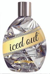 Tan Asz U Iced Out Tanning Lotion with 200X Black Bronzing. 13.5 fl oz