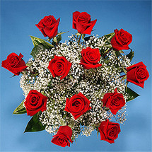 The Luxuriant Red Rose Bouquet
