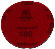 """Abralon Sanding Pad 180 Grit  Do you need to sand your ball down to a different finish? If so this could be the perfect sanding pad for you. This is a 180 Grit sanding pad. It can be used wet, or dry. It works great with Powerhouse Ball Resurface. This sanding pad will last 5 times longer than sand paper. If you are looking to use a 180 Grit sanding pad on your ball then look at using this Abralon Sanding Pad 180 Grit.  For deepest scratches Cosmetically appealing, consistent scratch pattern provides excellent traction Combines the benefits of abrasive cloth and non-woven products Opening in the fabric allows water to flow freely around the abrasive Resists """"caking""""Foam center holds large amounts of water for lubrication and cooling Solid surface and foam backing provide even surface pressure Last 5+ times longer than sandpaper Use wet or dry (residual material can be removed by high pressure air)Works great on our Powerhouse Ball Resurfacer SKU: EQUIP073EA Product ID: 3904"""