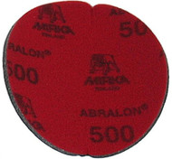 """Abralon Sanding Pad 500 Grit  Do you need to sand your ball down to a different finish? If so this could be the perfect sanding pad for you. This is a 500 Grit sanding pad. It can be used wet, or dry. It works great with Powerhouse Ball Resurface. This sanding pad will last 5 times longer than sand paper. If you are looking to use a 500 Grit sanding pad on your ball then look at using this Abralon Sanding Pad 500 Grit.  For medium scratches Cosmetically appealing, consistent scratch pattern provides excellent traction Combines the benefits of abrasive cloth and non-woven products Opening in the fabric allows water to flow freely around the abrasive Resists """"caking""""Foam center holds large amounts of water for lubrication and cooling Solid surface and foam backing provide even surface pressure Last 5+ times longer than sandpaper Use wet or dry (residual material can be removed by high pressure air)Works great on our Powerhouse Ball Resurfacer SKU: EQUIP075EA Product ID: 3903"""