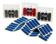 """VISE Pre-Cut Hada Patch 1/2"""" Tape  Quick easy one step process! Apply to your Thumb and get a comfortable and consistent release! Different colors for different texture! Get the release you desire!  SOLD IN INDIVIDUAL PACKETS EACH CONTAINING 60 PIECES  Apply to the back of your thumbGives you a clean & consistent releaseFeels better on your hand than your own skin1/2"""" x 3"""" piecesNumber 1 is Blue (Slick/quick release)Number 2 is Red (Medium release)Number 3 is Aqua (Medium/slow release)Number 4 is Grey (Tacky/slow release)SKU: VGHPAT12Product ID: 8613"""