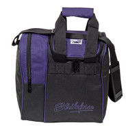 "The KR Rook is a great single tote that provides separate compartments for a ball and shoes. This bag is offered in a variety of colors to match your shoes or ball or both or neither.  Color: Purple/BlackAdjustable shoulder strap.Zippered, side shoe compartment holds up to size 11.Foam ball insert.Fabric: 600DDimensions: 11.5""W x 12""D x 12""H"