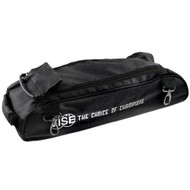 """The Vise Add-On bag can be used to attach to the Vise 3 Ball """"Clear Top"""" Tote Roller. This bag has clips that allow it to attach to the Vise Roller/Tote for easy transport. The large size of the bag allows it to accommodate varying sizes of shoes. This add-on bag also helps traveling come easier.  Color: BlackDesigned with 1680 durable denier matt (nylon) fabricClips on the to the Vise 3 Ball """"Clear Top"""" Tote RollerLarge storage area to fit varying shoe sizesDurable zippersReinforced stitching5-year limited manufacturer's warranty"""