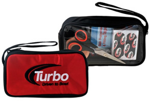 "This is a great item to add to your Turbo collection. It is a single accessory bag that can fit into any bowling bag you have. It can easily hold any of those smaller accessory items that tend to get lost in the main part of the bag.  ACCESSORIES NOT INCLUDED  Handy storage for extra inserts, adhesives, tape and other small accessoriesEmbroidered Driven to Bowl logoSingle zipper openingCarry strapDimensions: 8"" x 4.25"" x 2"""