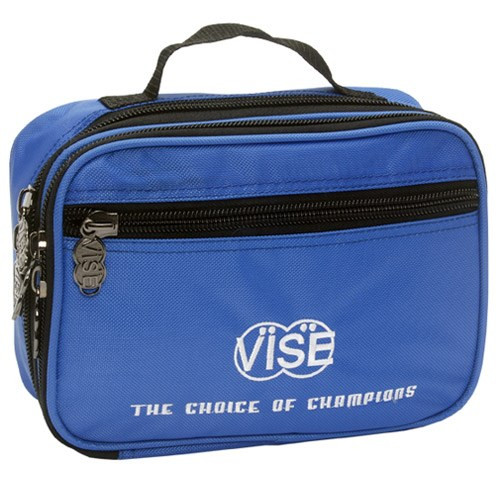 """No more digging through your bag to find your accessories. Get organized in style with the Vise Accessory Bag.  Dimensions: 10"""" X 7.5"""" X 1""""Handle StrapZippered pocket great for custom embroideryMultiple pockets able to hold many different bowling accessories"""