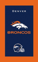 "NFL Denver Broncos towel.  Colorful designs16"" x 26"" velour towelIndividually packaged"