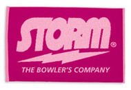 100% cotton woven towel from Storm.  100% CottonWoven STORM Logo