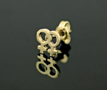 9ct Gold Female Gender Single Mini Small Stud