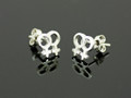 Sterling Silver Female Gender Pair Medium Stud Earrings