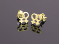 9ct Gold Female Gender Pair Medium Stud Earrings