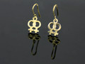 9ct Gold Female Gender Pair Drop Earrings