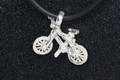 Sterling Silver Mountain bike on cord
