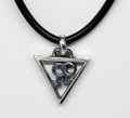 Sterling Silver Male Necklat-oxidised effect, on a cord S-1632