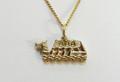 9ct Gold medium DragonBoat Necklat G-3330