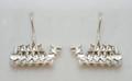 Sterling Silver Dragon Boat Drop Earrings S-2230