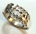 Sterling Silver Dragon Boat Ring - 4 sizes available S-2231