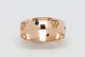 9ct Gold - Half round profile Female ring 6.5mm wide ring