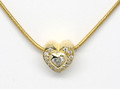 18ct Heart diamond .10ct, and pave set diamonds