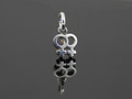 Ster/Silver Female Charm on Complimentary Chain