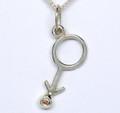 Ster/Silver Male pendant Diamond set, white dia or Cognac dia 1575
