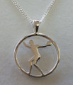 Silver Discus Pendant on Silver Chain 1029