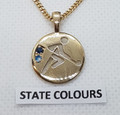 9ct  Gold State REP Pendant  G-1090