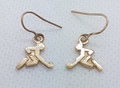 9ct gold Hockey player Drop earrings