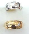 Wide Design Ring- Diamonds or Plain C86967