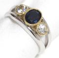 2 tone Hand Made Australian Sapphire ring