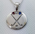 ENGLAND REP Pendant, stone set - Silver or Gold