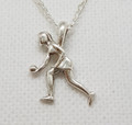 Sporty lawn bowler pendant silver or gold