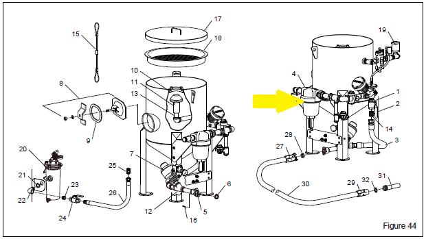 clemco 01284 wetblast flex air filter  1 2 u0026quot  npt manual drain