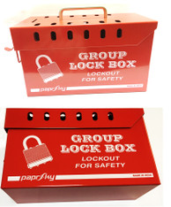 Group Lock Box - Red