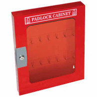 Padlock Cabinet with Clear Fascia - 28 Locks