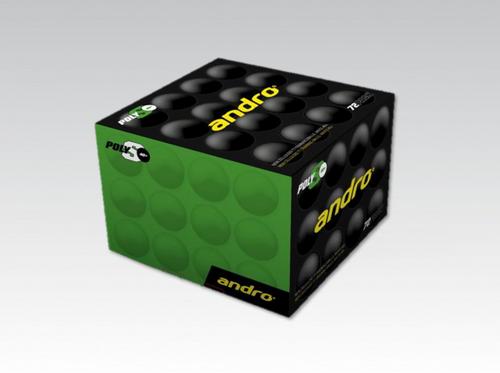 Andro PolyS 1* White (72) balls