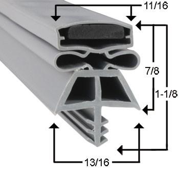 Kolpak Gasket 36 1/4 x 78 1/4 - 3 Sided RH