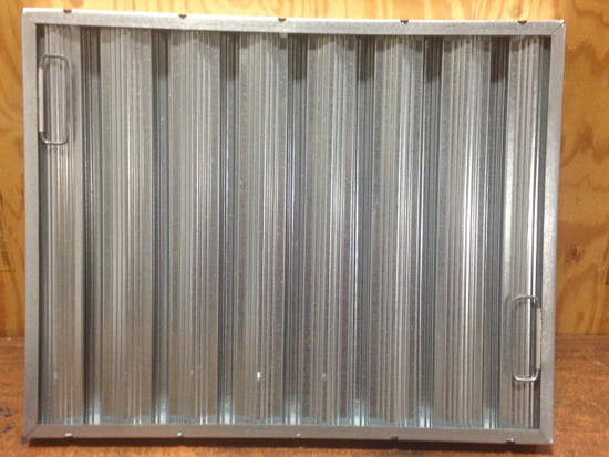 20 x 25 Galvanized Grease Baffle Filter