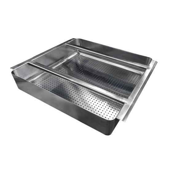 "Stainless Steel Scrap Basket for 20"" x 20"" Sink"