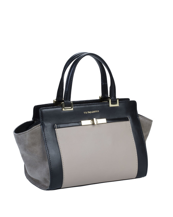 Via Repubblica 9775Vr Leather Bag Beige