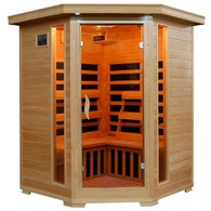 4-person WaveTec IV Carbon Corner Infrared Sauna