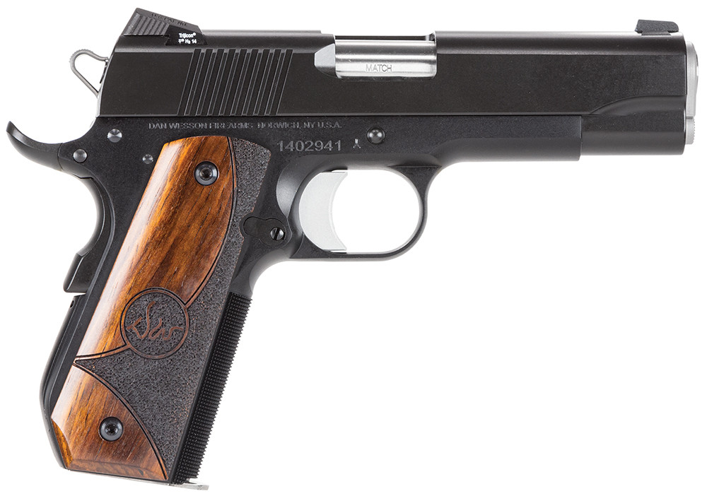 Dan Wesson Dw Guardian Sao 45 Acp 4.25[dquote] 8+1 Wood Grip Black Finish