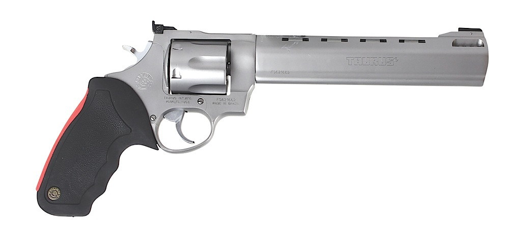 Taurus 444 Raging Bull Single/double 44 Remington Magnum 8.38[dquote] 6 Black Rubber Stainless