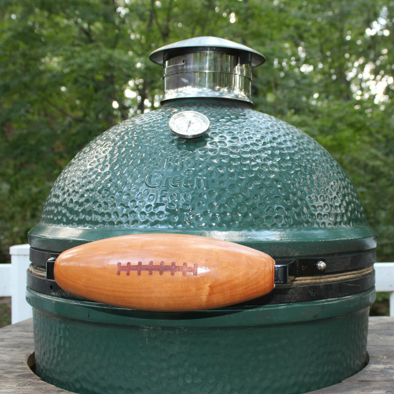 Big Green Egg Outdoor Kitchen: Big Green Egg Handle (Cherry/Football)