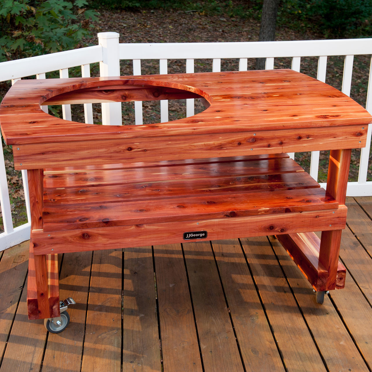 Big Green Egg Outdoor Kitchen: Extra Large Big Green Egg Table